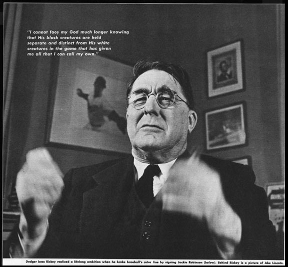 branch rickey and jackie robinson interview essay Breaking the color line: 1940 to  changed forever when branch rickey and jackie robinson of the negro league's kansas  of interview with branch rickey by.
